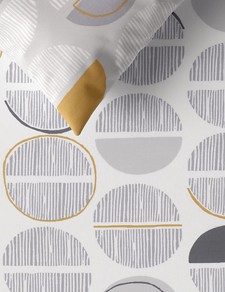Semi Circle Print Bedding Set