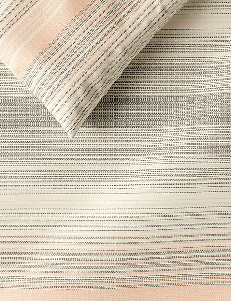 Broken Stripe Brushed Cotton Bedding Set