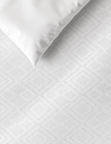 Diamond Textured Cotton Bedding Set