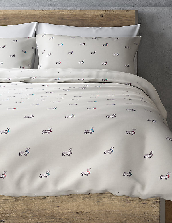 Sausage Dog Easy Care Reversible Duvet Set