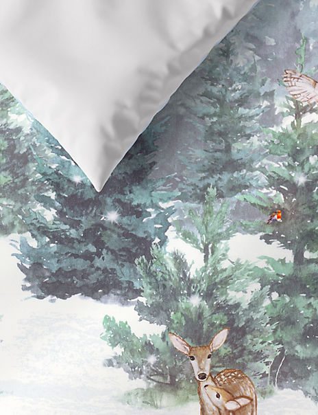 Sateen Winter Scene Bedding Set
