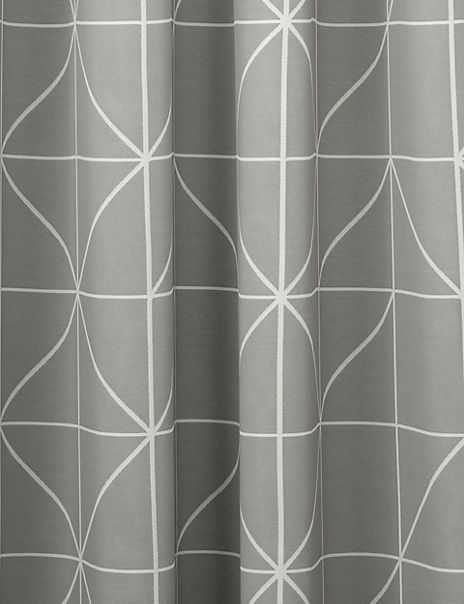 Linear Jacquard Eyelet Curtains