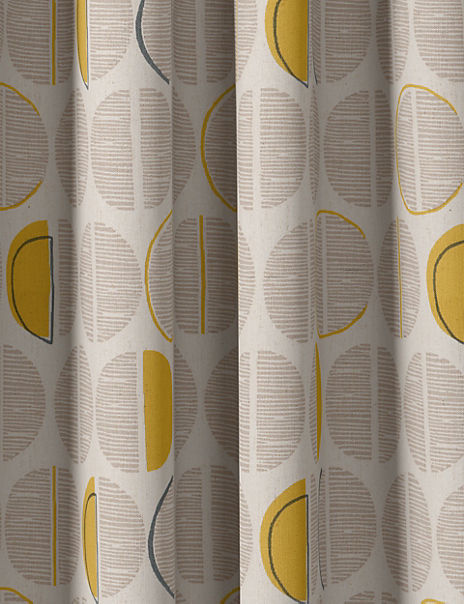 Layla Circles Print Eyelet Curtains