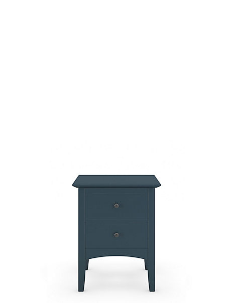 Hastings Mid Blue Bedside Table