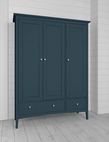 Hastings Mid Blue Triple Wardrobe