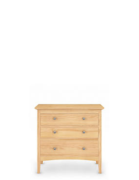 Hastings Light Natural 3 Drawer Chest