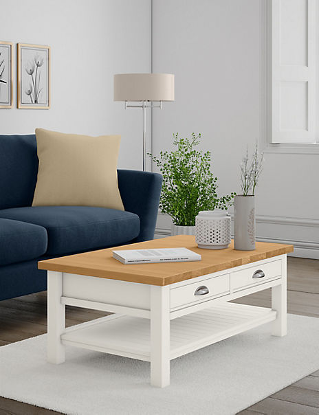 Padstow Ivory Storage Coffee Table