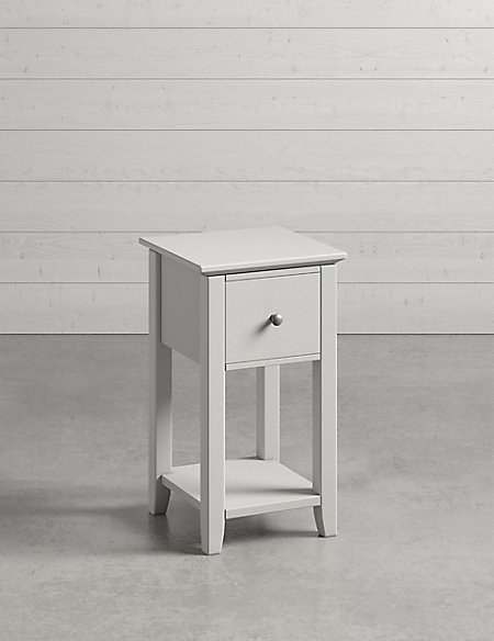 Set of 2 Hastings Grey Compact Bedside Chests