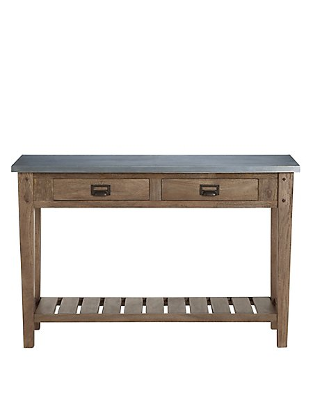 Sanford Console Table Metal Top