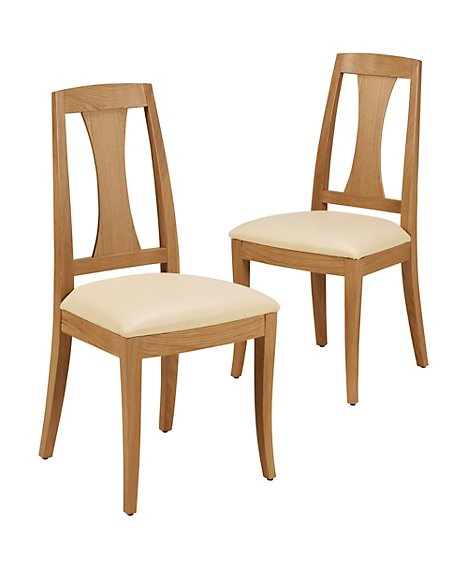 2 Burchill Leather Dining Chairs