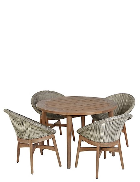 Capri Teak Table & 4 Chairs