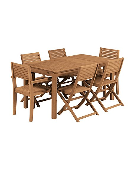 Nordina Extending Dining Table & 6 Chairs