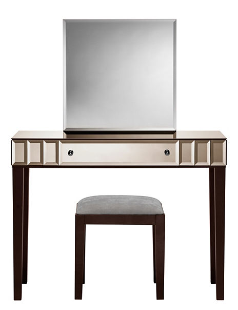 Dressing Table With Mirror And Stool: Sloane Dressing Table, Mirror & Stool Set