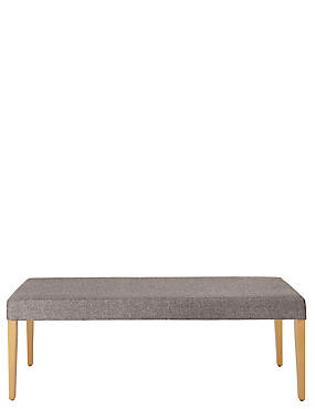 Alton Grey Fabric Bench