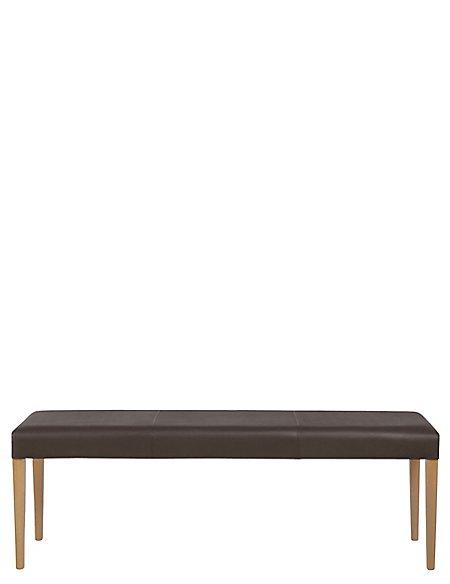Alton Brown Leather Bench