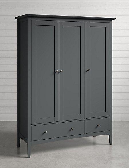 Hastings Triple Wardrobe Dark Grey