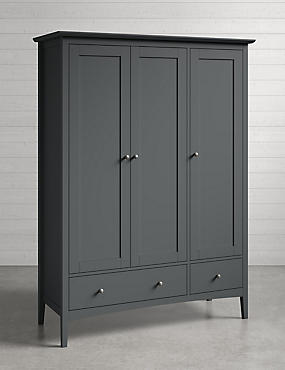 Hastings Triple Wardrobe Dark Grey