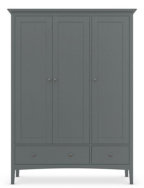 Hastings Dark Grey Triple Wardrobe