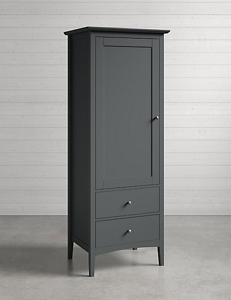 Hastings Single Wardrobe Dark Grey