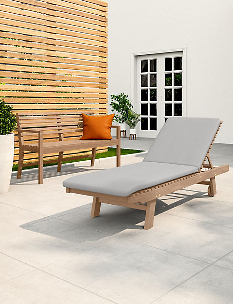 Melrose Natural Garden Lounger