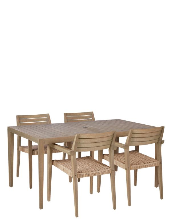 Garden Table Chairs Wooden Outdoor Seating Sets Ms