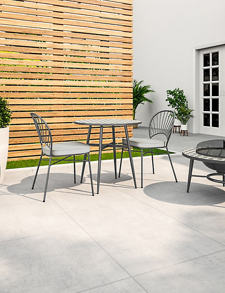 Sorrento Mosaic Garden Bistro Table & Set of 2 Chairs