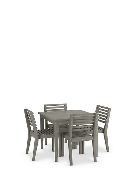 Melrose Square Table & 4 Chairs Set