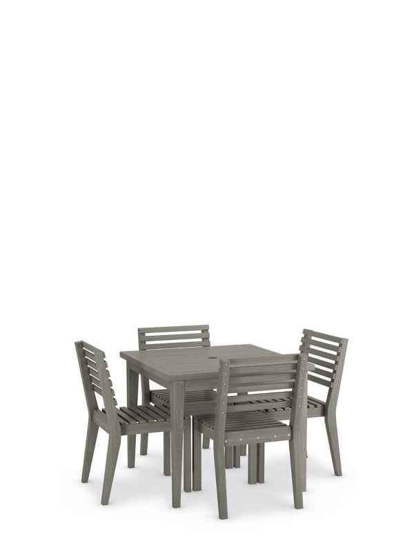 Melrose Square Table 4 Chairs Set
