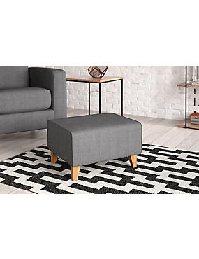 Next Day Delivery Cabot Footstool Soljen Charcoal
