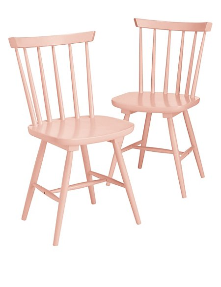 2 Dinton Coral Chairs