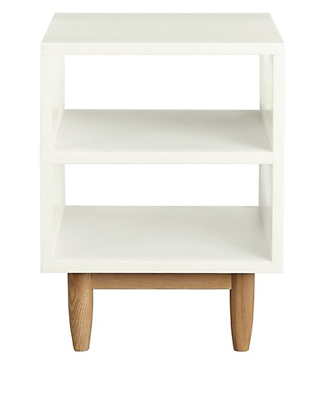 Alto Painted Bedside Table White