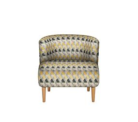 Kerava Armchair Miro Chenille Yellow Mix - Self Assembly