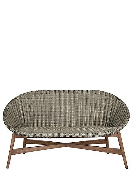 Capri Teak Sofa - Grey