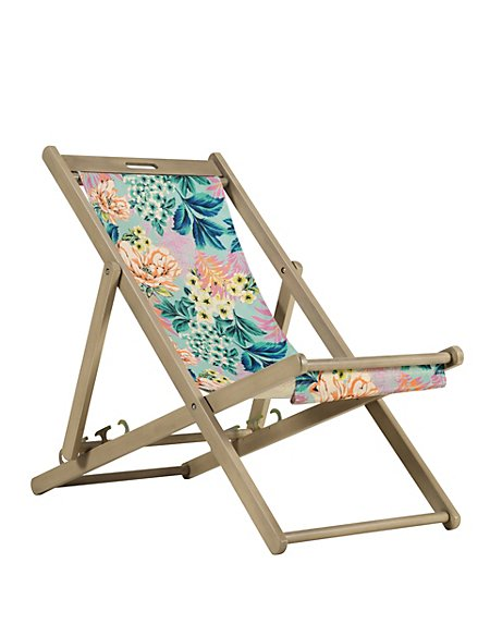 Tropical Bellagio Floral Deck Chair   Self Assembly