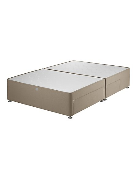 Classic Sprung Divan with 2 Small + 2 Large Drawers - 7 Day Delivery*