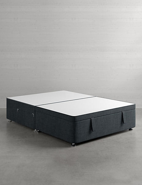 Half End Ottoman Divan with 2 Small Drawers