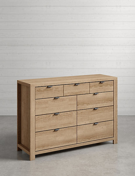 Arlo Natural 6 + 3 Drawer Chest