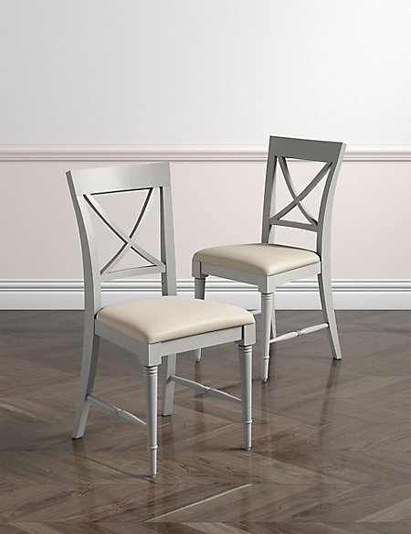 Set of 2 Greenwich Grey Dining Chairs