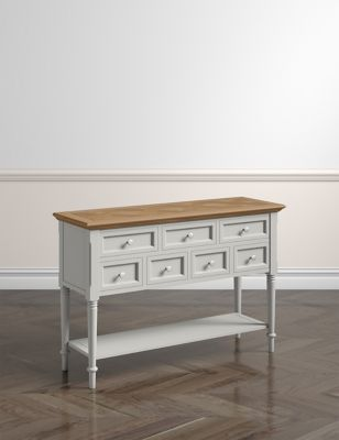 greenwich grey console table m s. Black Bedroom Furniture Sets. Home Design Ideas