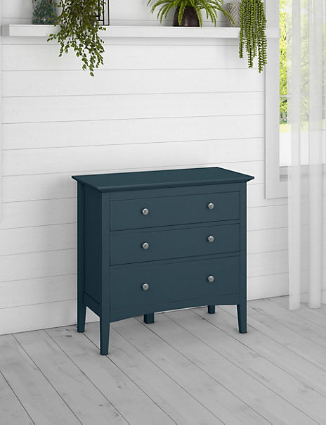 Hastings Mid Blue 3 Drawer Chest