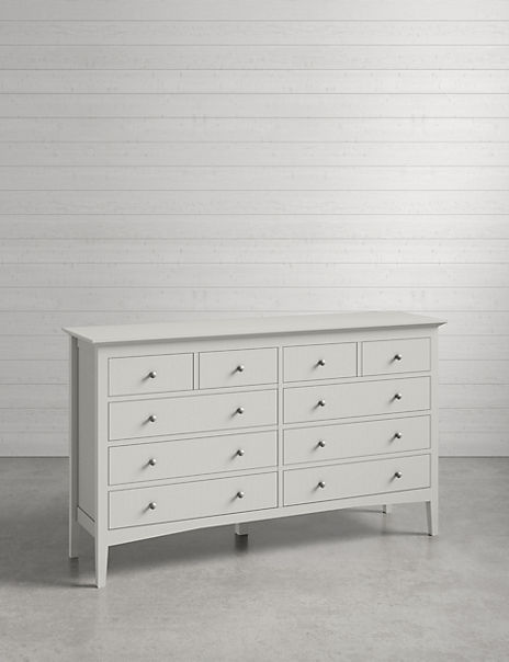 Hastings Grey 10 Drawer Chest