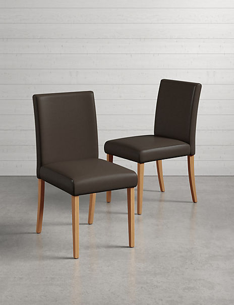 Set of 2 Arlo Faux Leather Dining Chairs