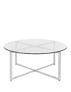 Metal & Glass Round Coffee Table