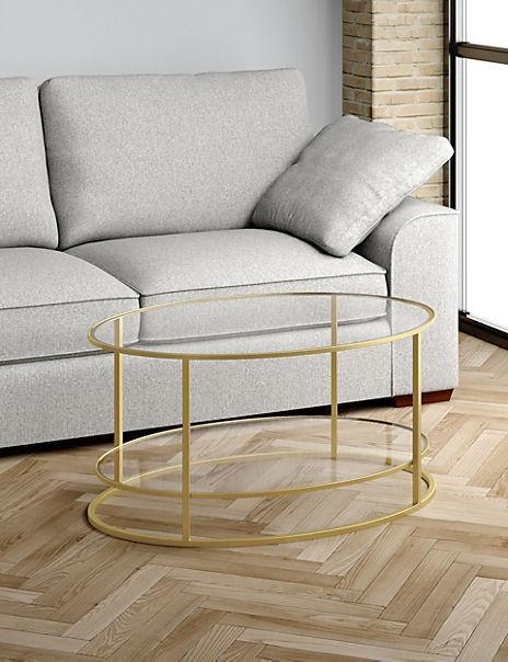 Santoro Brass Oval Coffee Table