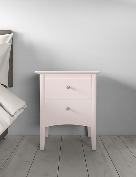 Hastings Powder Pink Bedside Table