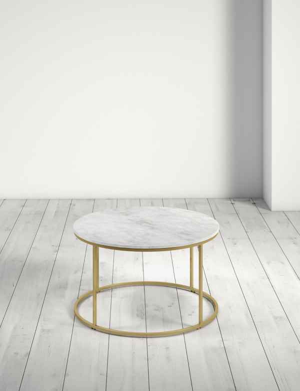 Farley Marble Round Coffee Table Ms