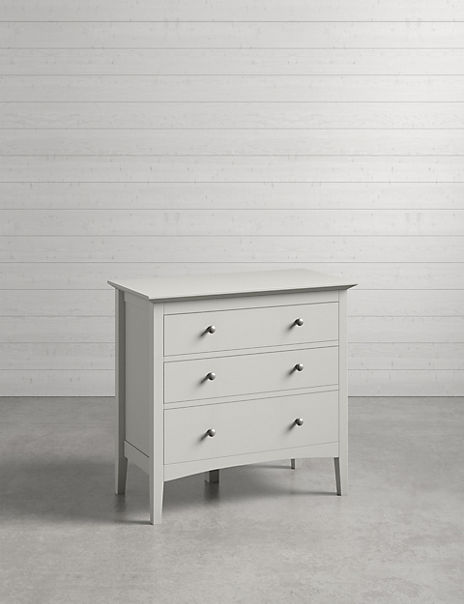 Hastings 3 Drawer Chest Grey
