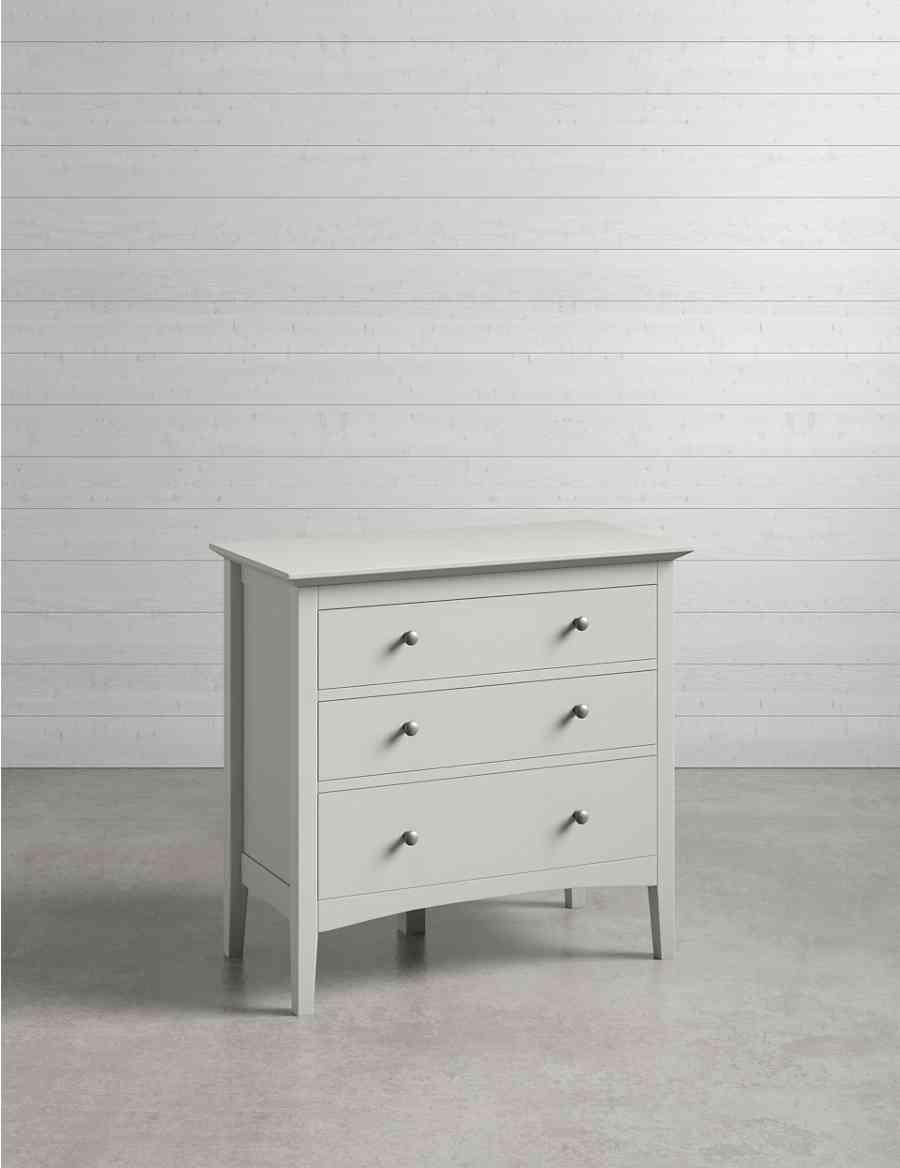 Hastings 3 Drawer Chest Grey Ms