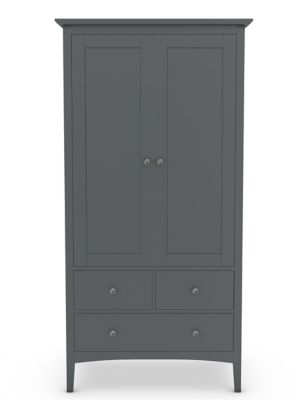Hastings Double Wardrobe Dark Grey by Marks & Spencer