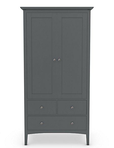 Hastings Double Wardrobe Dark Grey
